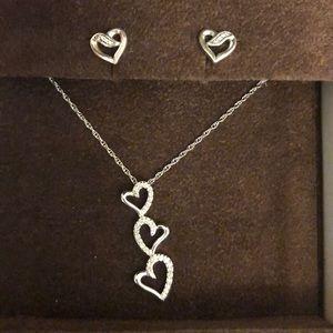 Jewelry - Diamond Heart Necklace 1/10 Ct Tw Round-Cut